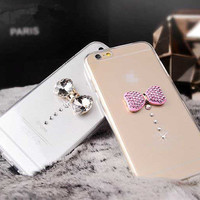 Ultra Thin Soft Crystal Diamond Bling Gel Transparent Phone Case for iPhone 5 5S 6 6S Plus