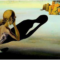 Salvador Dali Sphinx Embedded in Sand Poster 11x17
