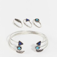 New Look | New Look Open Cuff And Ring Multipack at ASOS