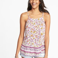 Lightweight Printed Swing Cami for Women  old-navy