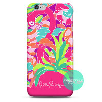 Lilly Pulitzer Multy Lulu Design iPhone Case 3, 4, 5, 6 Cover
