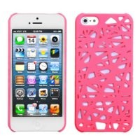 niceeshop(TM) Pink Bird Nest Rear Hard Case Cover for iPhone 5 5S + Screen Protector