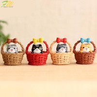 (4pcs/lot) Cheese cat miniature figurines toys cute lovely Model Kids Toys 3cm PVC japanese anime children figure world 160325