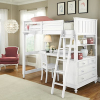Park Place Twin Size Study Loft Bed