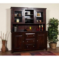 Sunny Designs Vineyard Hutch and Buffet In Rustic Mahogany