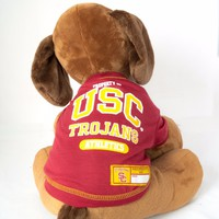 USC Trojans Dog Shirt NCAA Officially Licensed Pet Product Univ Southern CA