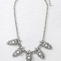 Rhinestone-Encrusted Statement Necklace