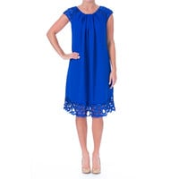 Sue Wong Womens Embroidered Cap Sleeves Cocktail Dress