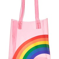 Rainbow Graphic Clear Tote Bag