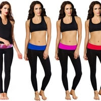 2015 NEWEST!!! Women Soft Comfy Cotton Spandex Yoga Sweat Lounge Gym Sports Athletic Pants_TQ