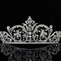 Clear Rhinestone Crystals Flower Tiara Crown For Bridal Women Wedding Hair Jewelry Accessories XBY158 Free Shipping