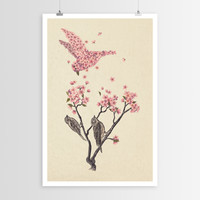 Terry Fan's Blossom Bird POSTER