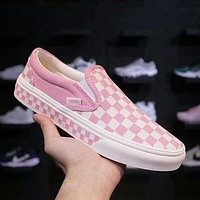 Vans Classic Popular Slip-On Old Skool Checkerboard Casual Canvas Sneakers Sport Shoes