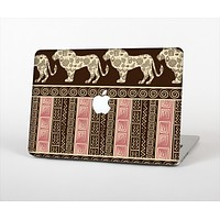 The Aztec Pink & Brown Lion Pattern Skin Set for the Apple MacBook Pro 15""