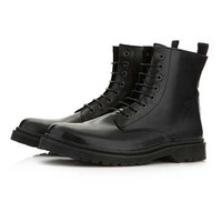 Black Leather Hi Boots - New In