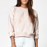 Kendall and Kylie Burnout Relax Cropped Crew Neck Sweatshirt at PacSun.com