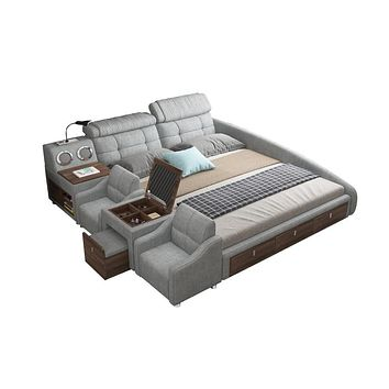 Smart Bed with Bluetooth Speaker LED USB Charger