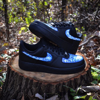 "Custom Nike Airforce 1 ""Clouds"" one of a kind shoes"