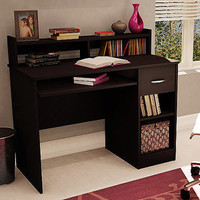 Walmart: South Shore Chocolate Smart Basics Small Desk With Optional Bookcase