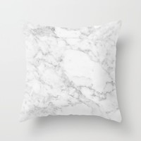 White Marble Edition 2 Throw Pillow by Minimalist