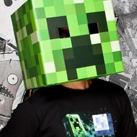 Official Minecraft Creeper Head Cardboard Mask 12 Inches By 12 Inches | AihaZone Store