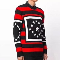 Givenchy Men Fashion Casual Pattern Print Top Sweater Pullover