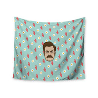 "Juan Paolo ""Give Me All Of The Bacon And Eggs"" Parks & Recreation Wall Tapestry"