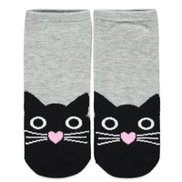 Cat Face Ankle Socks