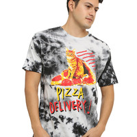 Pizza Delivery Tie Die T-Shirt