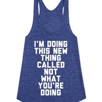I'm Doing This Thing-Female Tri Indigo Tank