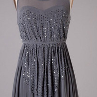 Elegance and Grace Dress - Gray