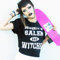 PROPERTY OF SALEM WITCHES TOP — NIKKI LIPSTICK