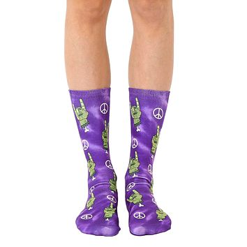 Zombie Peace And Love Crew Socks