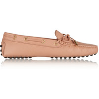 Tod's - Gommino textured-leather loafers