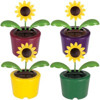 Solar Powered Dancing Sunflower - Package of Three (3) Flowers