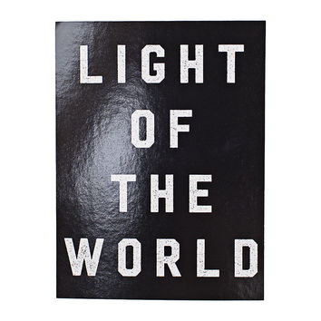 Light of the World Black Sticker