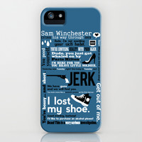 Supernatural - Sam Winchester Quotes iPhone & iPod Case by Natabraska