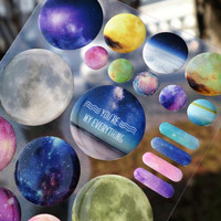 3D You are My Space Decorative Stickers Diary Sticker Scrapbook Decoration PVC Stationery DIY Stickers School Office Supply