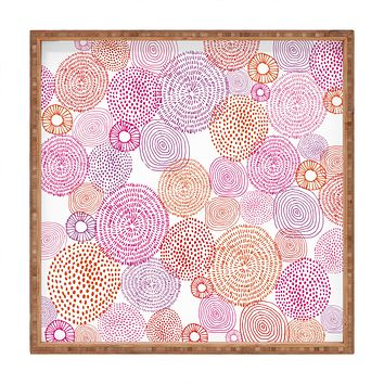 Camilla Foss Circles In Colours I Square Tray