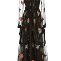 Embroidered V-Neckline Dress | Moda Operandi