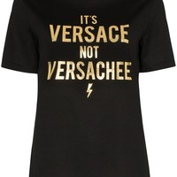 "Black and Gold ""Not Versachee"" T-Shirt by Versace"
