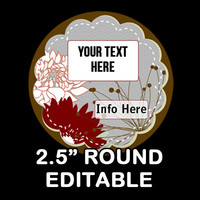 """Marsh """"EDITABLE"""" ROUND STICKER 2.5 Inches   - Soap labels - Lotion Labels - Body Butter Labels - Product Labels Editable - Scrapbooking"""