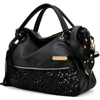 Sun*Glory New Women Handbag Tote Purse PU Leather Women Messenger Hobo Bag
