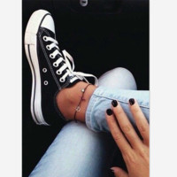 Converse All Star Adult  Sneakers Lersure Low-Top Leisure shoes Black