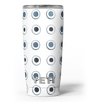 The Blue Watercolor Circle Polka Dots - Skin Decal Vinyl Wrap Kit compatible with the Yeti Rambler Cooler Tumbler Cups