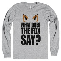 What Does the Fox Say?-Unisex Heather Grey T-Shirt