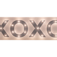 "Marquee Light-Up ""XOXO"" Sign, Signs"