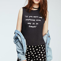 Say In French Graphic Muscle Tee