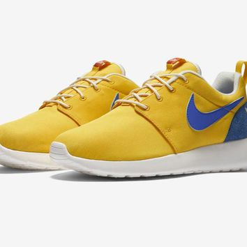Nike Roshe One Retro Rosherun Blue Yellow Mens Running Shoes Sneakers 819881 741