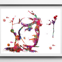 Amelia Earhart watercolor Print American aviator pioneer Amelia Earhart Poster first female aviator to fly solo across the Atlantic Ocean